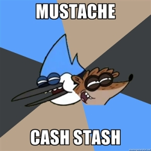 mustache cash stash